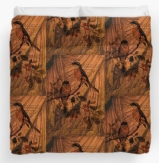 Draw Back the Curtain Duvet Covers at Redbubble © Sarah Vernon